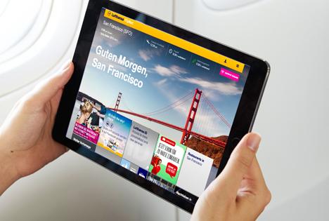 Lufthansa FlyNet-Portal. Foto © Lufthansa Group