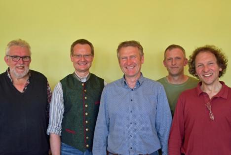 Von links nach rechts: Peter Warlich, Hubert Heigl, Eberhard Räder, Hans Bartelme, Everhard Hüseman. Foto © Naturland