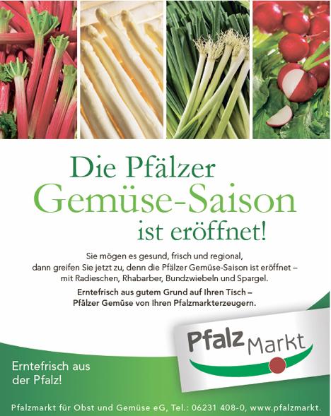 Pfalzmarkt Saisonstart von Pfälzer Freiland-Gemüse