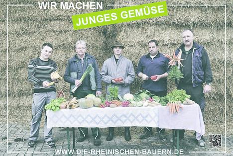 """RLV Motiv: """"Wir machen junges Gemüse"""""""