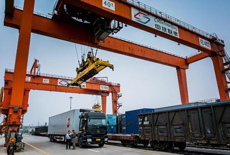 UPS-China-Europe-Rail-Service. Foto © UPS