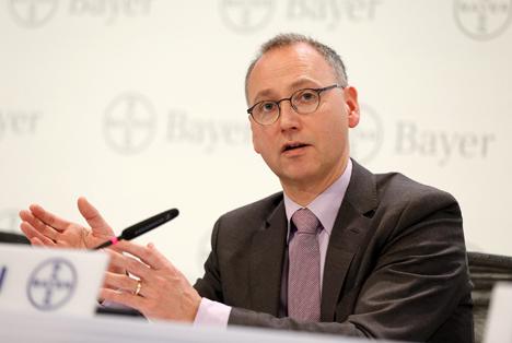 Werner Baumann, Vorsitzender des Vorstands der Bayer AGFoto Bayer AG