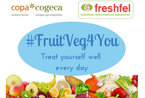 Europäische Kampagne in sozialen Medien #FruitVeg4You