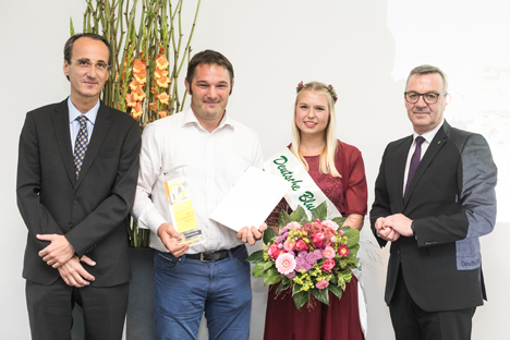 """In der Kategorie Kooperation/Betriebsorganisation/Unternehmenskonzepte gewann die Firma """"Wiesenobst"""" aus Ingelheim am Rhein. Foto ZVG/ Thomas Rafalzyk"""