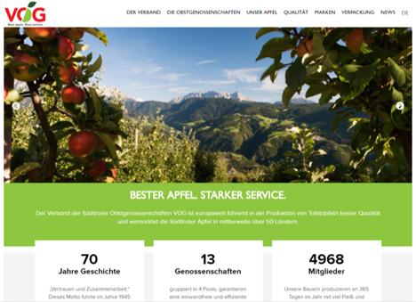 Die aktualisierte Website präsentiert sich nun internationaler, benutzerfreundlicher und moderner. Foto VOG
