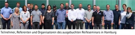 Teilnehmer, Referenten und Organisatoren des ausgebuchten Reifeseminars in Hamburg. Foto DFHV