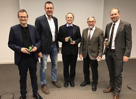 v.l.n.r.: Legrand, Ufen, Schmidt, Weiler, Weseloh). Foto: BfG/ Winkhoff