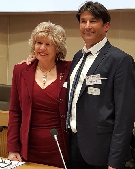 Neuer Vorstand der AREFLH, Simona Caselli mit Jean-Louis Moulon. Foto © AREFLH