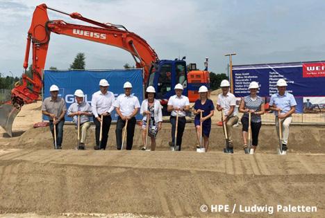 Die Unternehmenserweiterung beginnt. Foto © HPE/Ludwig Paletten