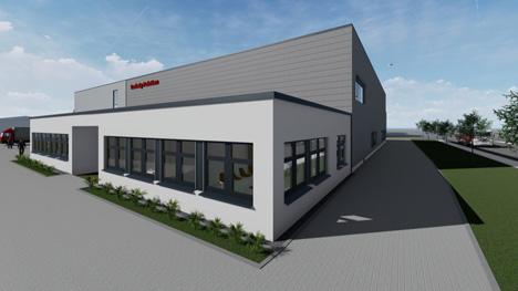 So wird der Standort Steinbach Anfang 2020 aussehen. Foto © HPE/Ludwig Paletten