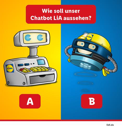 """Der Lidl-Chatbot """"LiA"""": Der neue direkte Draht zu Lidl. Quelle: """"obs/Lidl"""""""