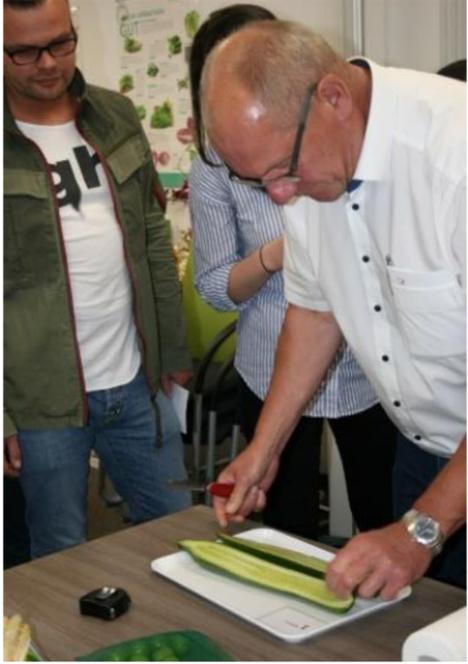 Konzentriert: Referent Michael Wahl von der BLE bei der Qualitätskontrolle. Foto © DFHV