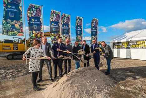 Logistikzentrum in Oberhausen: Edeka Rhein-Ruhr feiert Baubeginn mit erstem Spatenstich