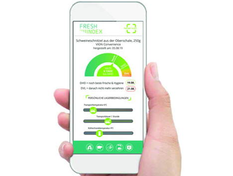 Fresh-Index-App an. Foto © tsenso GmbH