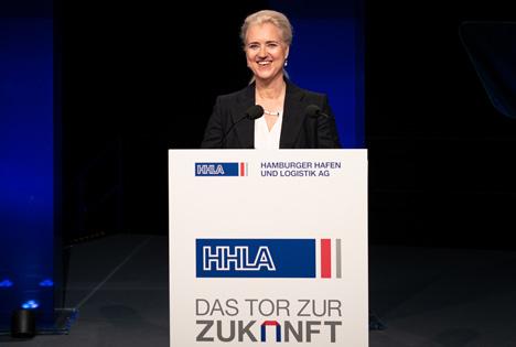 Die HHLA-Vorstandsvorsitzende Angela Titzrath auf der HHLA-Hauptversammlung 2019. Foto: HHLA / Nele Martensen