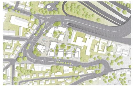 Städtebaulicher Wettbewerb von Lidl und Stadt Esslingen entschieden: Pesch Partner Architekten Stadtplaner gewinnt. Foto © obs/Pesch Partner/Lidl