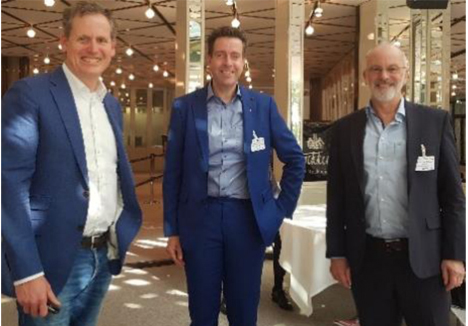 Drs. Wolthuis, Dennis Kraaijeveld, Dr. Brügger. Foto © DFHV