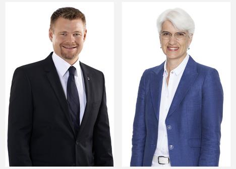 v.l.: Klaus Fickert und Caroline Wilkens. Foto © EDEKA Südwest