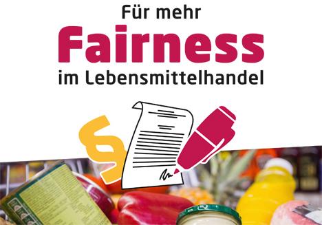 "Cover Positionspapier ""Für mehr Fairness im Lebensmittelhandel"". Quelle: www.forum-fairer-handel.de"