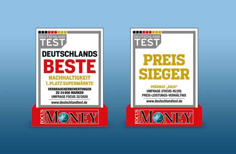 Preis-Sieger und beste Nachhaltigkeit 2020 - Foto © Focus Money und Deutschland Test