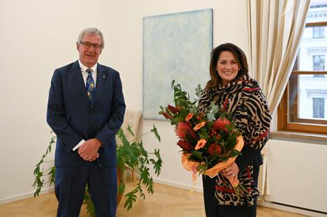 Antrittsbesuch des neuen Präsidenten des Gärtnereiverbandes. Foto: Pia Regnet/ StMELF