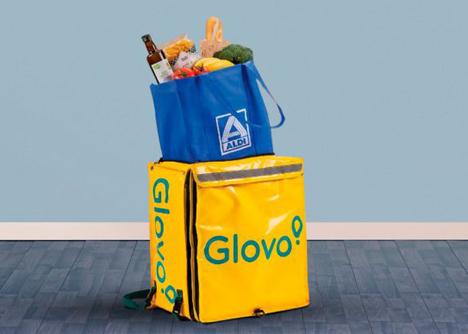 Glovo in Aldi-Läden. Foto © Aldi Supermarkets/Glovo