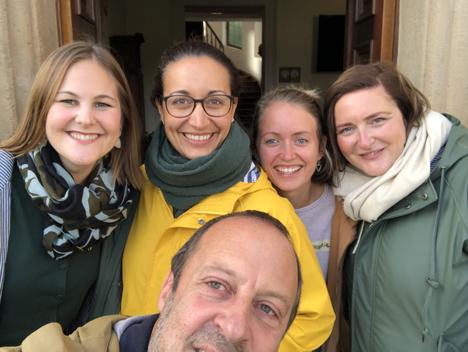 Foto v.l.n.r: Julia Hoßfeld, Johanna Stumpner, Sophie Löbbering, Kathrin Jäckel; v. Manuel Pick. Foto © Manuel Pick