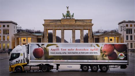 Tag des Deutschen Apfels Truck. Foto © BVEO