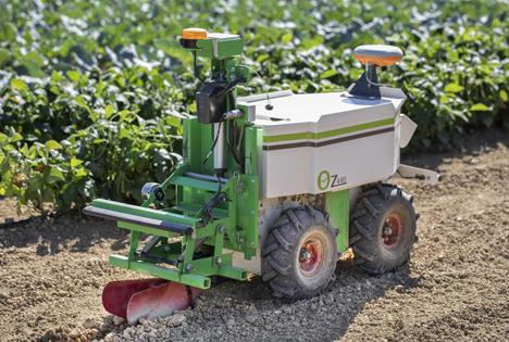 Agrarroboter Oz im Einsatz. Foto © BayWa AG