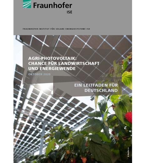 Der vom Fraunhofer ISE herausgegebene Leitfaden zur Agri-Photovoltaik. Foto © Fraunhofer ISE