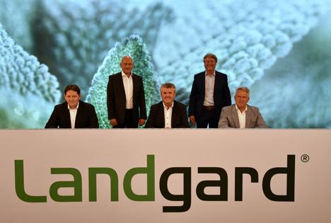 Auf dem Podium v.l.: Carsten Bönig, Dirk Bader, Bert Schmitz, Robert Sauer, Willi Andree. Foto © Landgard