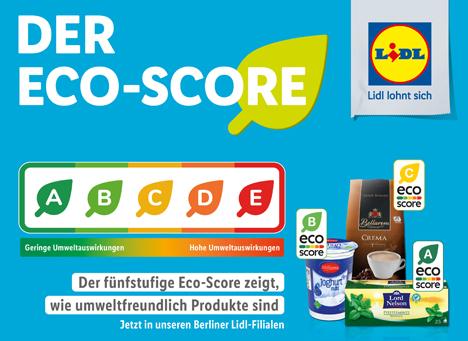 Test der Eco-Score-Kennzeichnung in allen Berliner Lidl-Filialen. Foto © LIDL