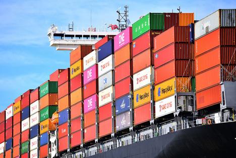 Güterumschlag steigt Q 1 apr 21 containerschip Foto © Rotterdamer Hafen /  Danny Cornelissen.