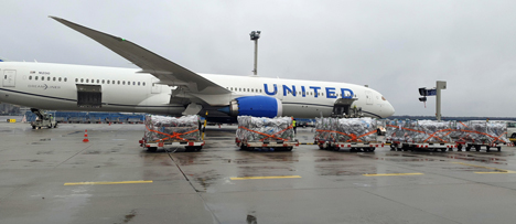 Neue Cargo-Flüge von Frankfurt nach Atlanta und von Zürich nach New York/Newark. Foto © United Airlines
