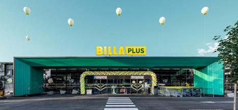 Visualisierung einer BILLA Plus Filiale. Foto © REWE Group
