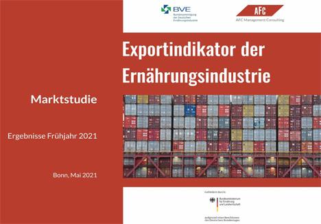 BVE AFC Exportindikator 2021 - Cover. Foto © BVE