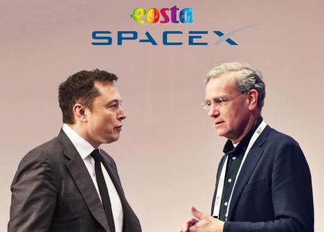 Elon Musk & Volkert Engelsman. Foto © EOSTA