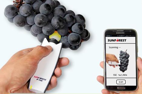 Weltpremiere: Taschengroßer Frucht Scanner Sunforest Co., Ltd.