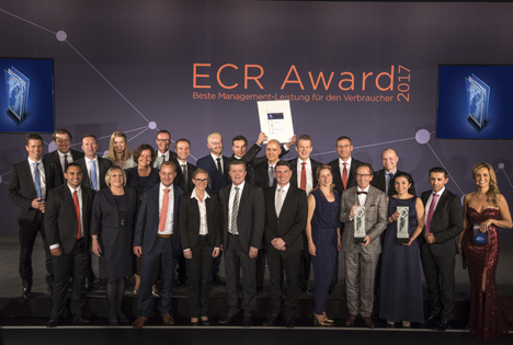 Die Preisträger des ECR Award 2017. Quelle: GS1 Germany GmbH
