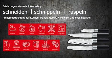 Titelbild Workshop: Erfahrungsaustausch schneiden | schnippeln | raspeln