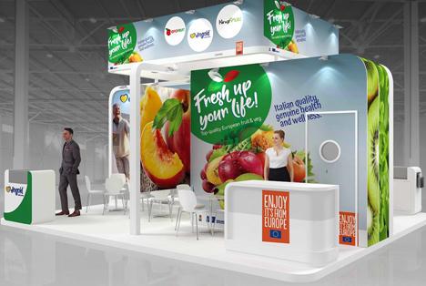 CSO Italy fördert Obst und Gemüse auf WOP in Dubai