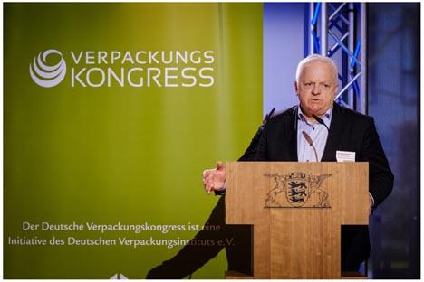 Wolf-Dieter Baumann | dvi Vorstandsvorsitzender. Foto © Deutscher Verpackungskongress 2019