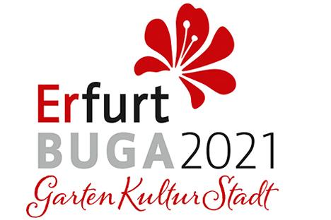 Mit diesem Logo geht die BUGA Erfurt 2021 an den Start.