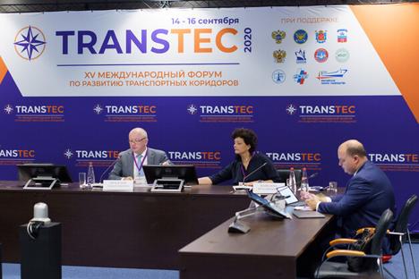 Rege Teilnahme am XV. International Forum on the Development of Transport Corridor Infrastructure in St. Petersburg. © NEVA International