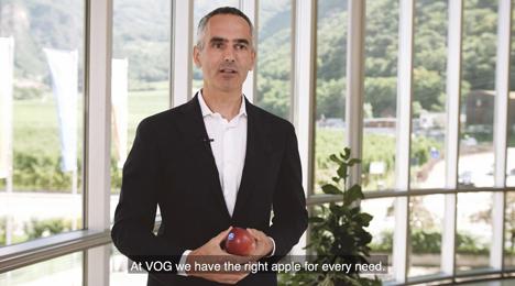 VOG-Direktor Walter Pardatscher im Video des virtuellen Messestands. Foto © VOG
