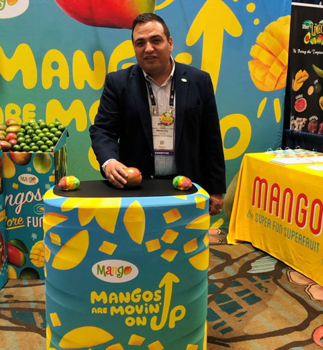 Manuel Michel, Executive Director des National Mango Board, auf der Southeast Produce Council Trade Show. Foto © NMB
