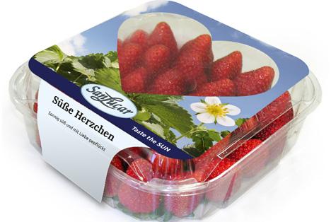 Pünktlich zum Valentinstag bringt SanLucar eine romantische Erdbeerverpackung