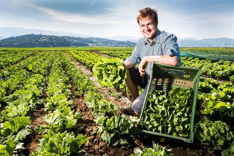 Romed Wopfner vom Kärntner Gemüseland. Foto: © SPAR/gleissfoto
