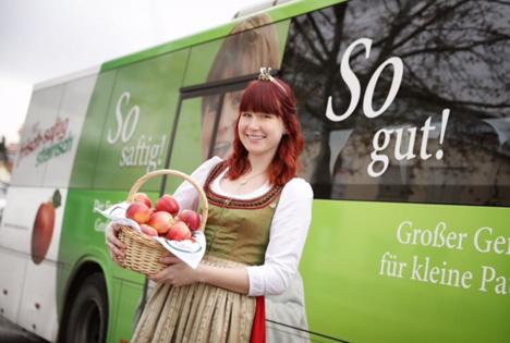 Apfelkönigin Magdalena I. in Gleisdorf. © OPST Obst Partner Steiermark GmbH