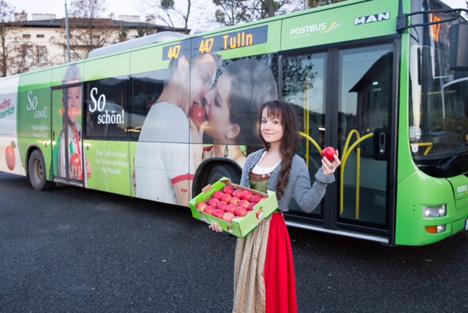 Apfelprinzessin Lisa I. in Wien. © ÖBB, A. Scheiblecker